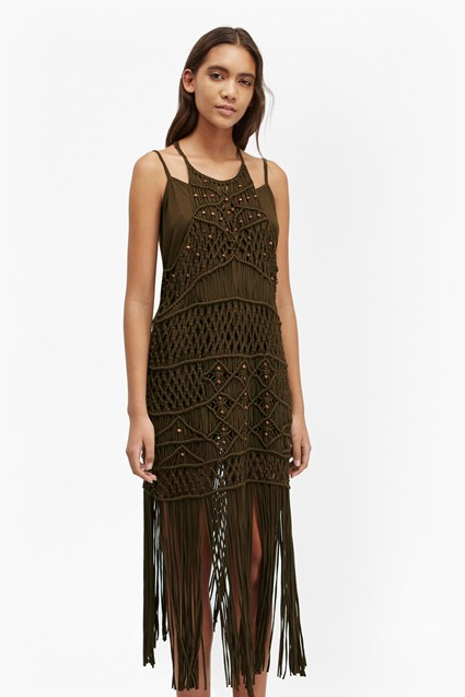 Tiger Lily Macrame Midi Dress