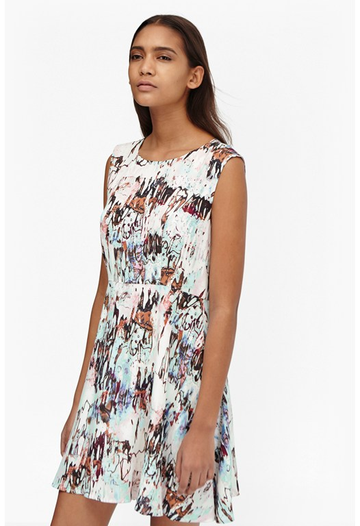 Isla Ripple Flared Dress