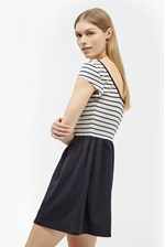 Looks Great With County Cotton Striped Dress