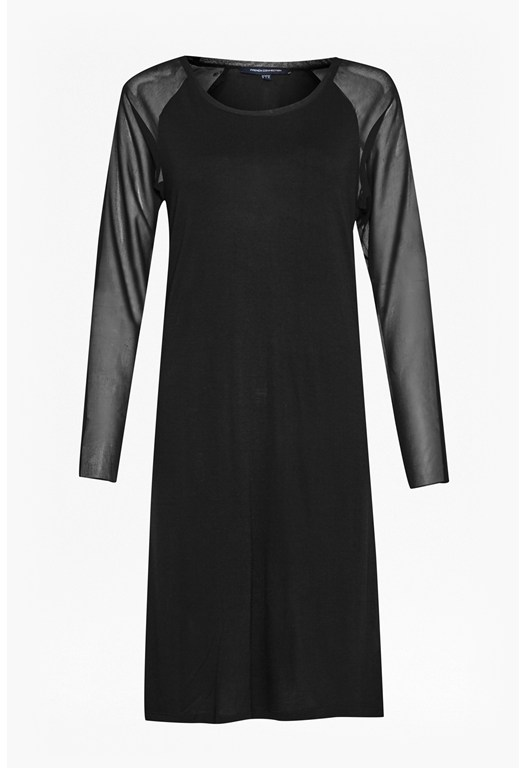 Attia Jersey Sheer Sleeve Dress
