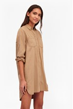 Looks Great With Pistols Cotton Shirt Dress