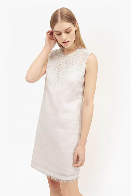 Abacus Bead Embellished Dress