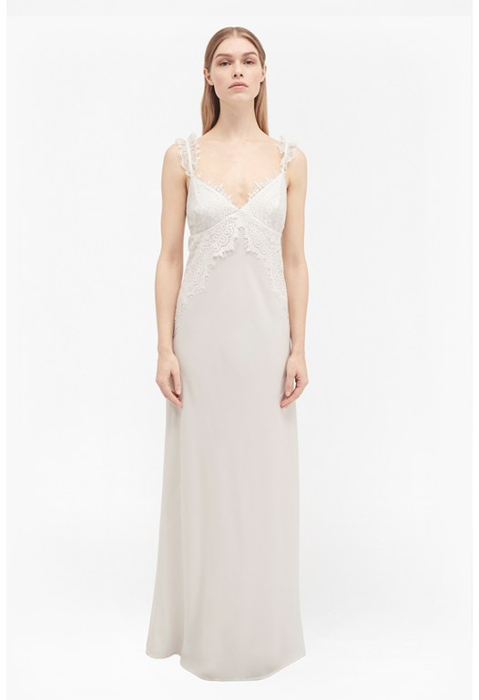 Georgiana Lace Slip Maxi Dress