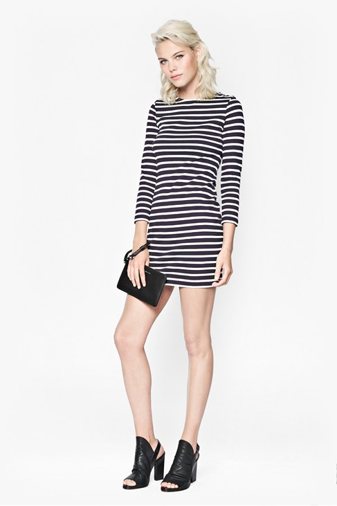French Stripe Cotton Dress