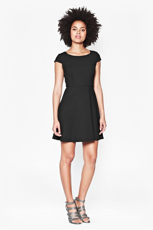 Whisper Ruth Cap Sleeved Dress