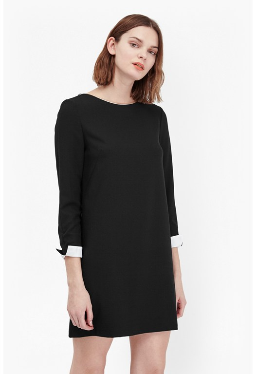 Tiffany Crepe Long Sleeves Dress