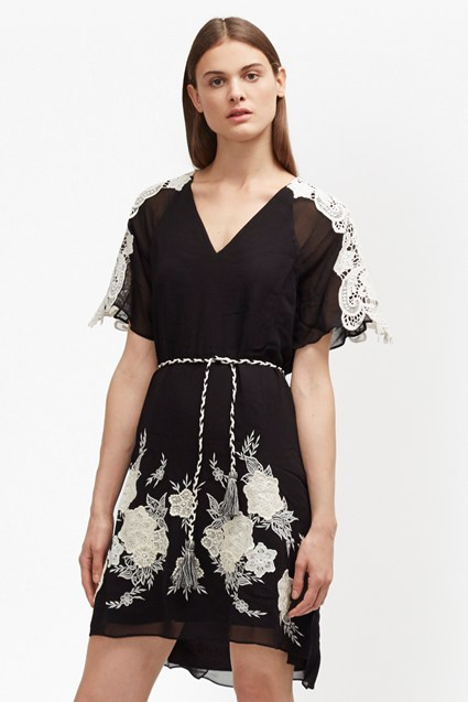 Kiara Applique Embroidered Dress