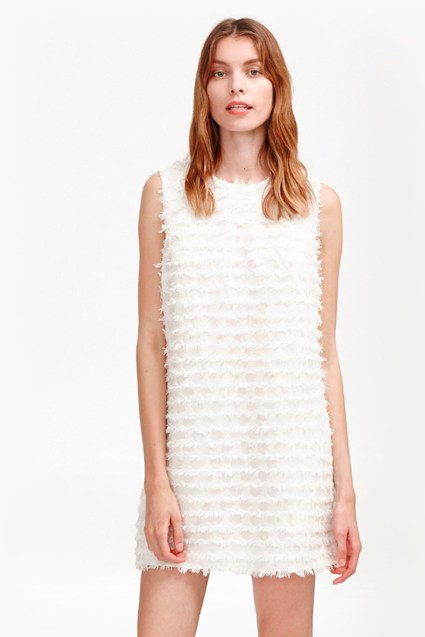 Summer Sky Fringe Shift Dress