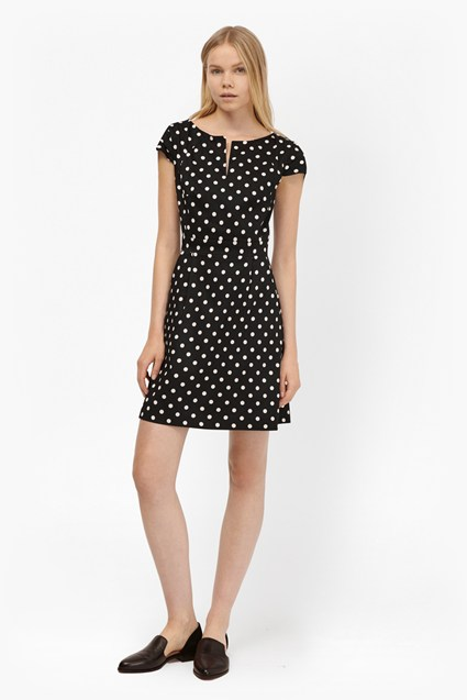 Dotty Spot Cotton Mini Dress