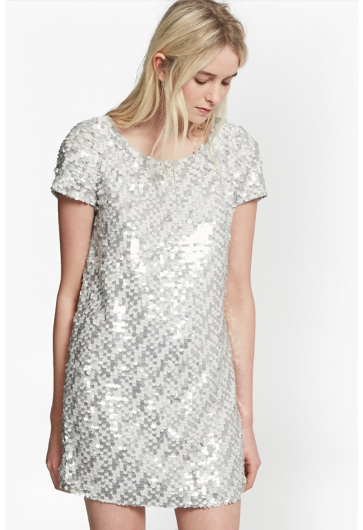 Snow Sequins Tunic Dress