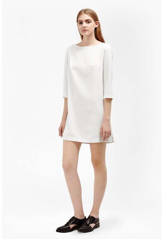 Arrow Crepe Tunic Dress