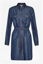 Looks Great With Denim Tencel Western Shirt Dress