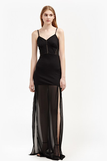Chantilly Bow Strappy Maxi Dress