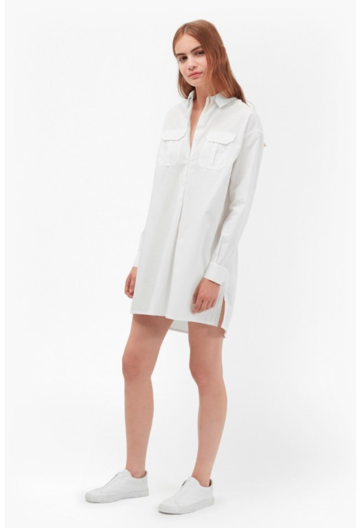 Army Poplin Shirt Dress