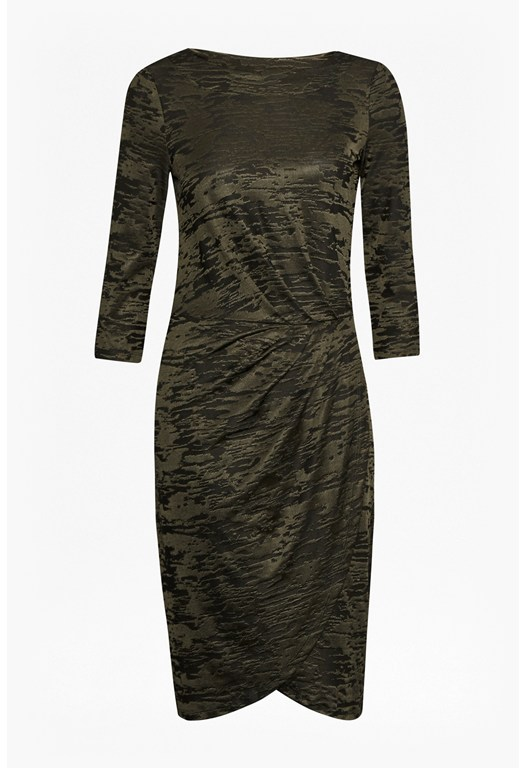 Stable Jacquard Wrap Dress