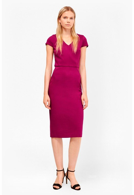 Lula Stretch Fitted Knee Length Dress