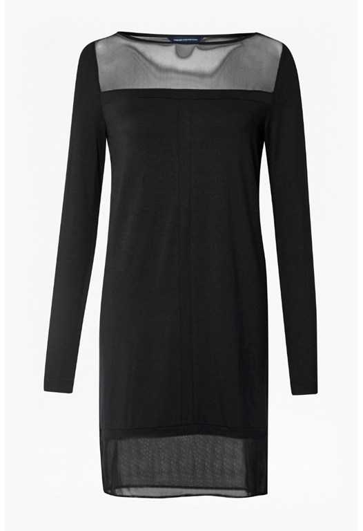 Matos Plains Mesh Panelled Dress