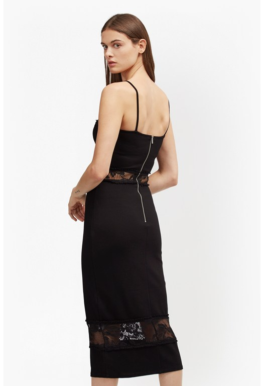 Lucky Layer Mesh Strappy Dress