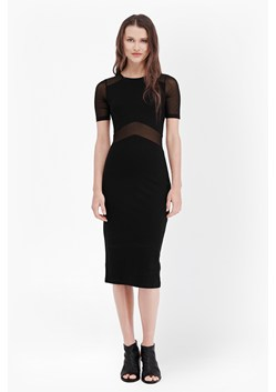 Arrow Mesh Insert Bodycon Dress
