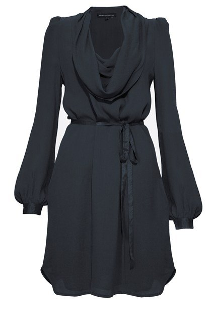 Valli Viscose Cowl Neck Dress