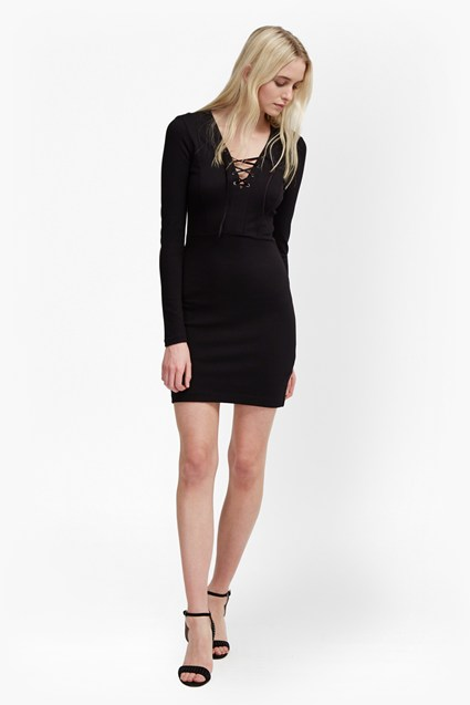 Lula Lace Up Dress