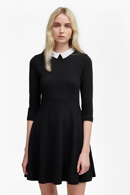 Fresh Jersey Shirt Collar Dress