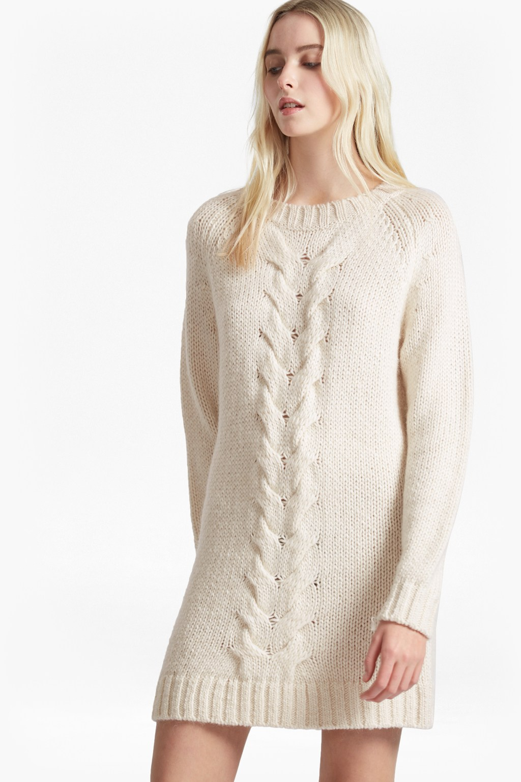 High Ridge Cable Knit Jumper Dress Collections French