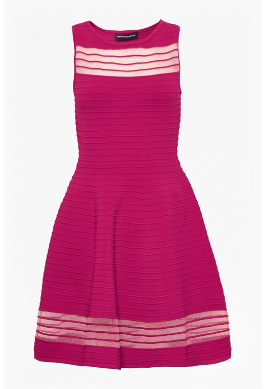 Tobey Crepe Knits Flared Dress
