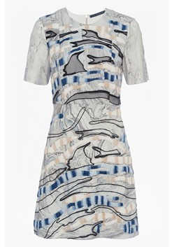 Derain Stitch Back Cut Out Dress