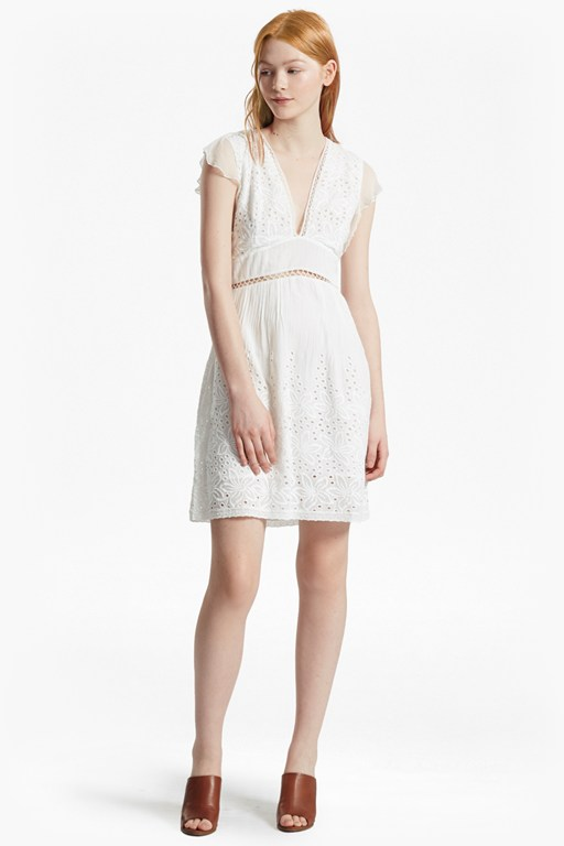 Hesse Embroidered V Neck Dress