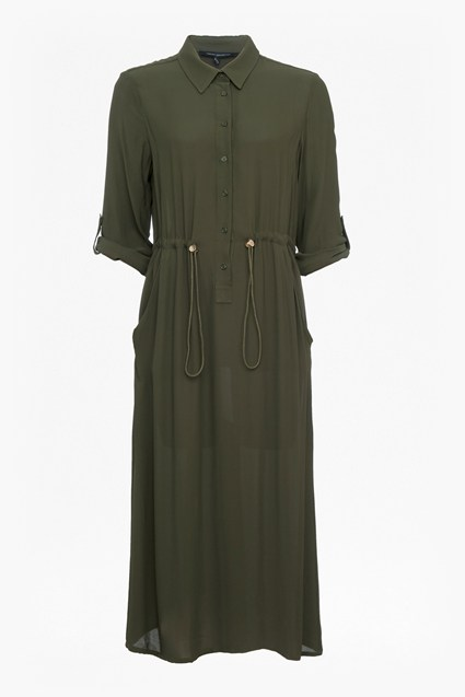 Cecil Drape Midi Shirt Dress