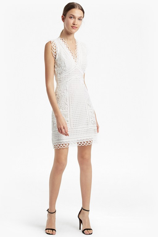 Zhara Lace Fit and Flare Dress