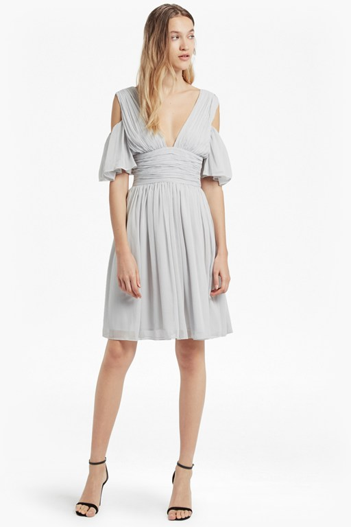 Constance Draped Cold Shoulder Dress