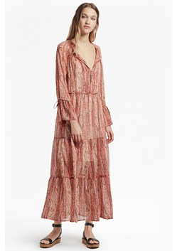 Malika Sheer Paisley Printed Maxi Dress