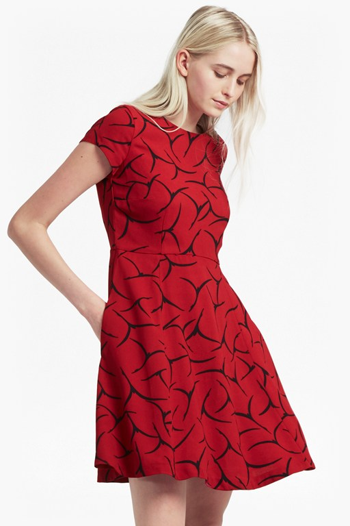 Rosalind Drape Fit and Flare Dress