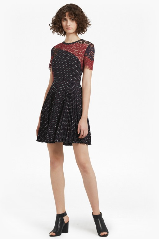 Phoebe Crepe Lace Dress