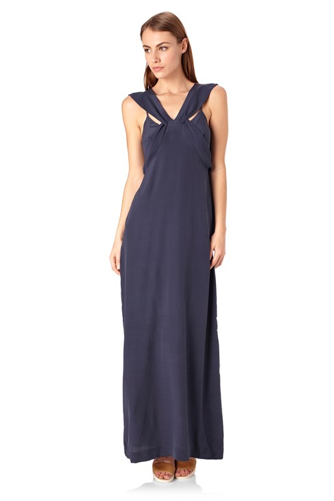 She Silk Maxi Dress