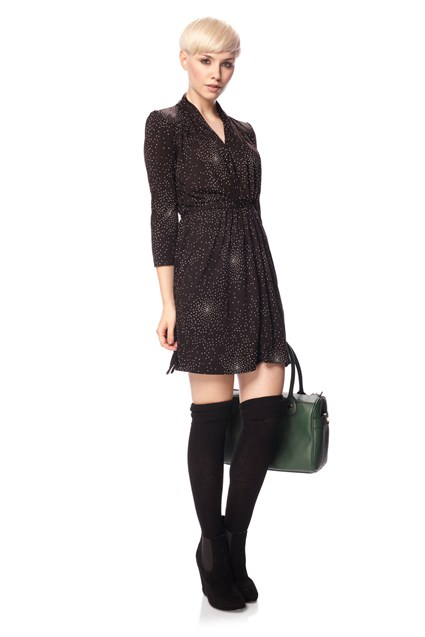 Moonlight Spot Jersey Dress
