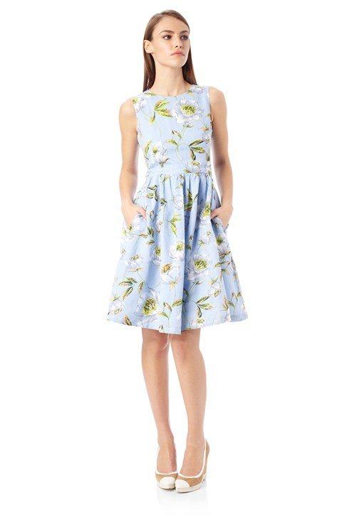 Spring Bloom Flared Dress