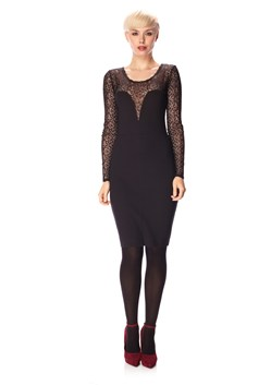 Lori Lace Jersey Longsleeve Round Neck Dress