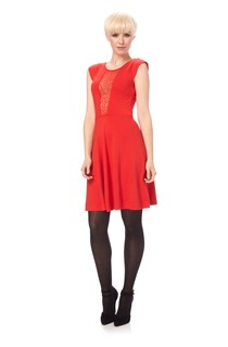 Lori Lace Jersey Flare Dress