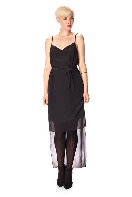 Selene Silk Tie Waist Dress