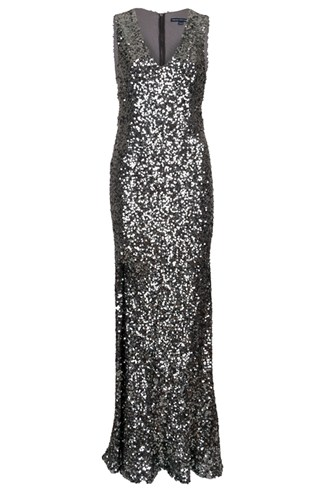 Ozlem Sequin Column Dress