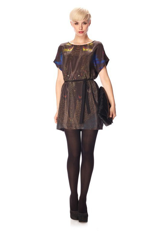 Dreamscape Silk T-Shirt Dress
