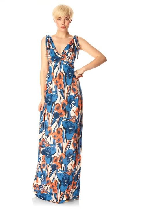 Tahiti Floral Maxi Dress