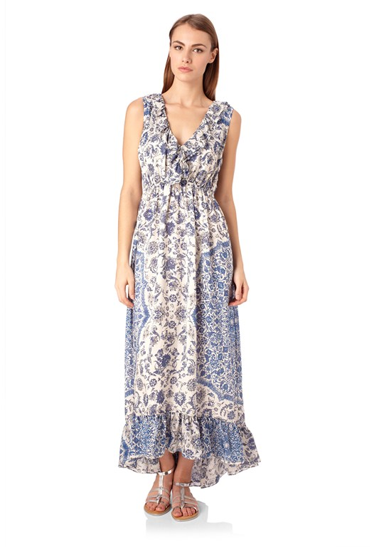 Mustique Tile Maxi Dress