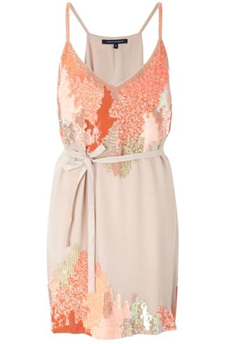 French Connection Embellished Strappy Dress Pink