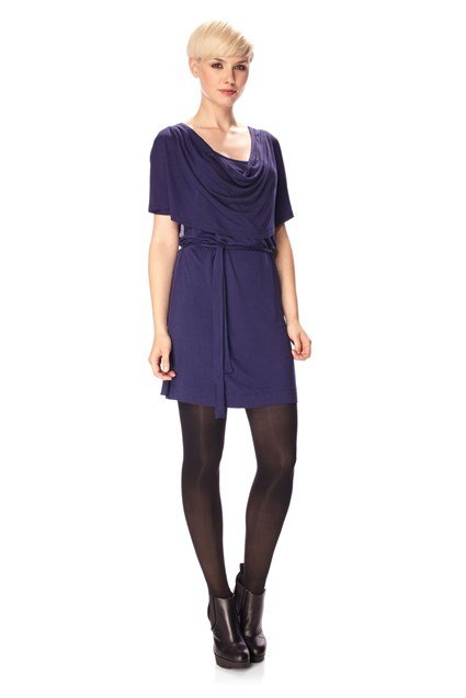 Ali Drape Cowel neck Dress