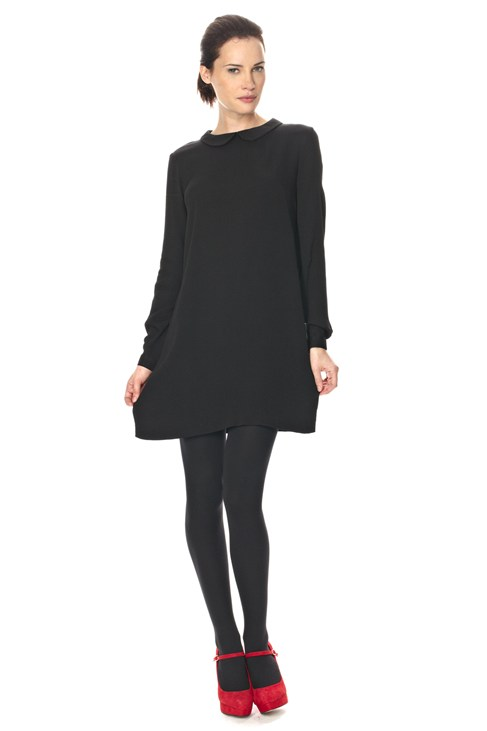 Lift Off Crepe Collar Dress