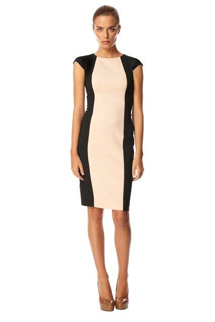 Reign Block Cap Sleeve Dress